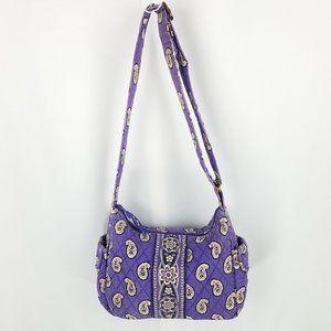 Vera Bradley bag cross body purple paisley